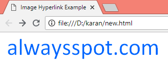HTML Image Links