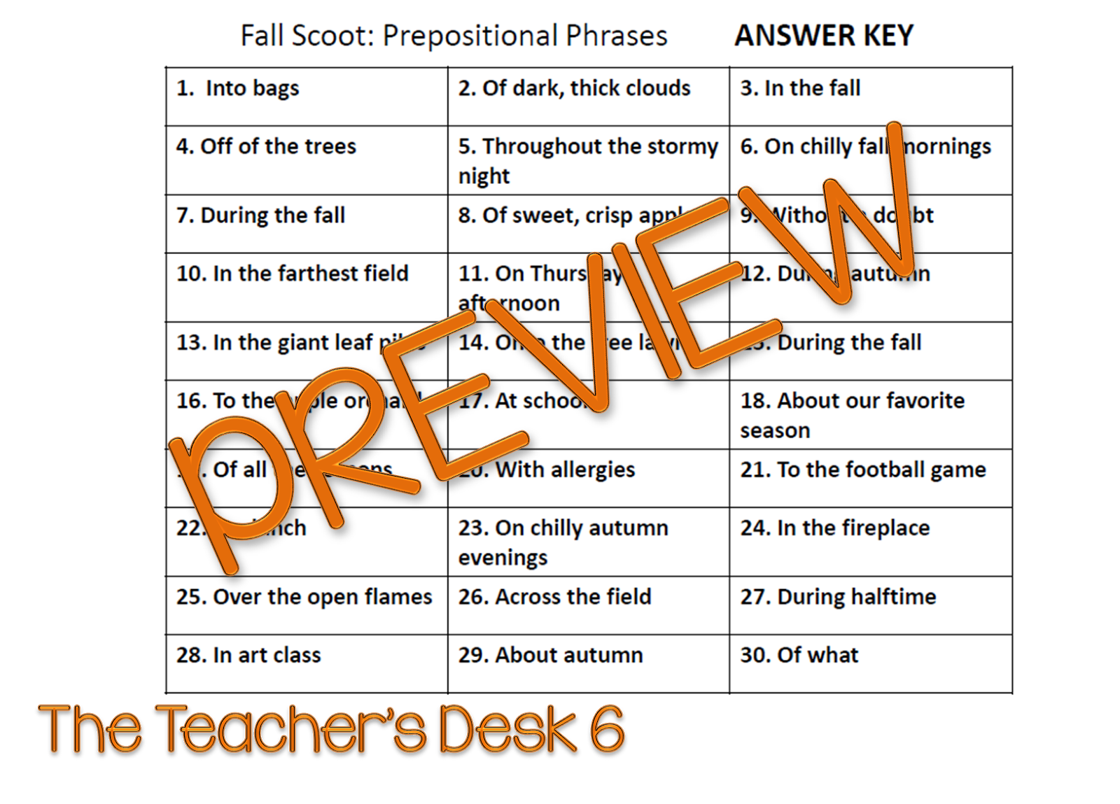 Back To School Product Swap Fall Scoot Prepositional