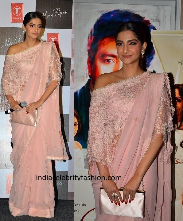 Sonam Kapoor in Pink Saree