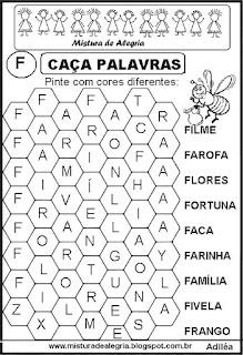 Caça palavras letra F