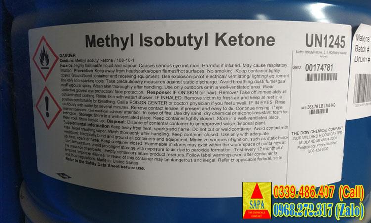 Dung môi Methyl Isobutyl Ketone (MIBK)
