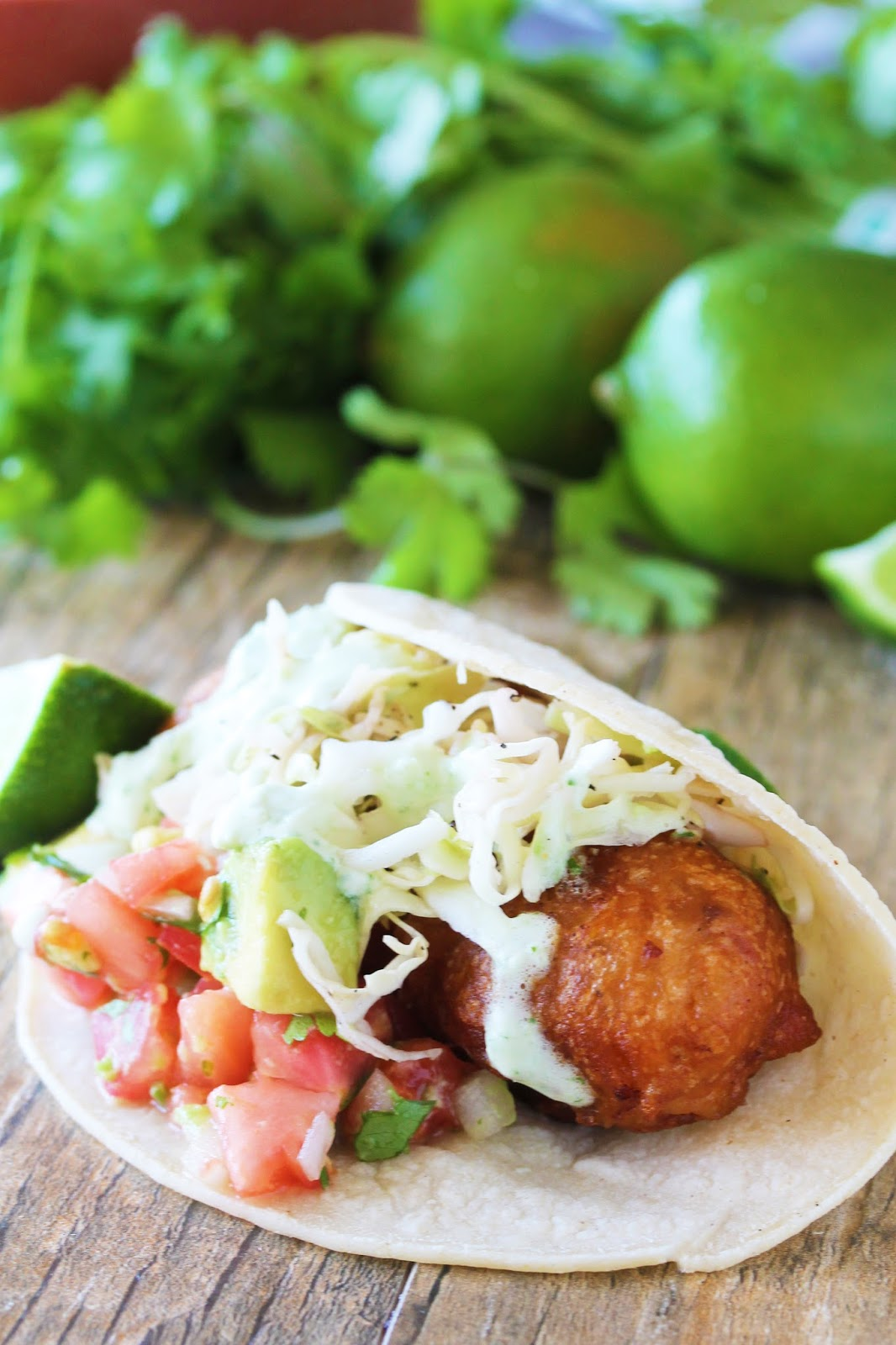 Battered cod fish tacos for Fried fish tacos recipe