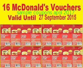 free Mcdonalds coupons april 2017
