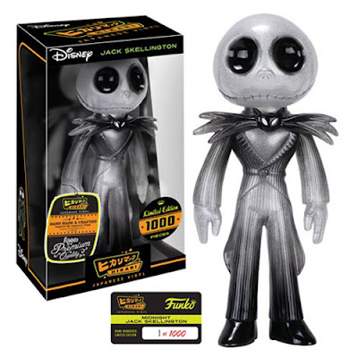 "The Nightmare Before Christmas ""Midnight"" Jack Skellington Hikari Sofubi Vinyl Figures by Funko x Disney"