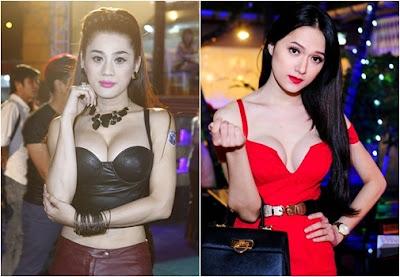 Lâm Chi Khanh và Hương Giang ngực giả lồ lộ