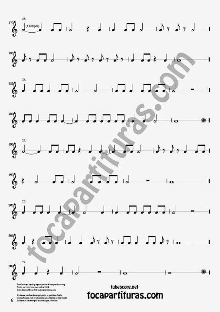 6 Parte 35 Ejercicios Rítmicos para Aprender Solfeo Negras, corcheas, blancas y sus Silencios Compás 4x4 cuatro tiempos Sheet Music for quarter notes, half notes, 1/8 notes and silences