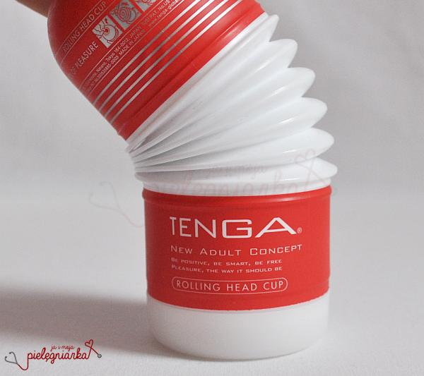 Masturbator z silikonu medycznego Tenga Rolling Head Cup - pozycja 'na jeźdźca'