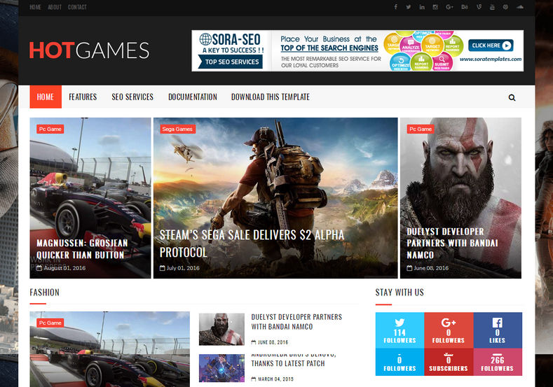 Hot Games Gaming Blogger Template | Blogger Templates Gallery