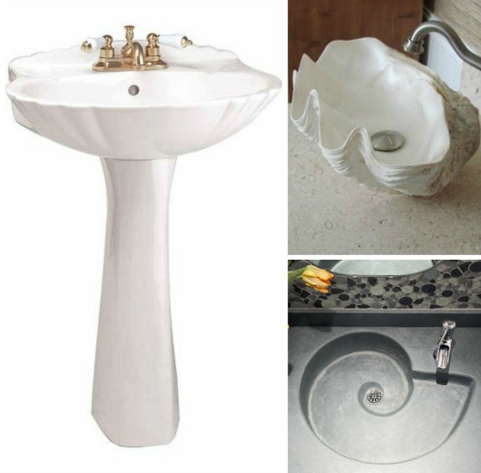 Shell Shape Sinks