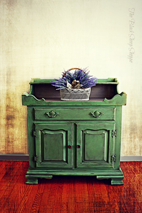 Tell City dry sink painted in Antibes Green Chalk Paint.