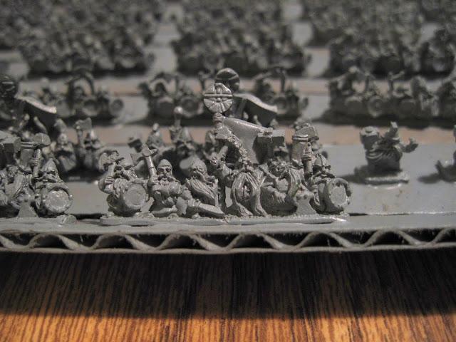 Warmaster Dwarf Warrior Command Strip