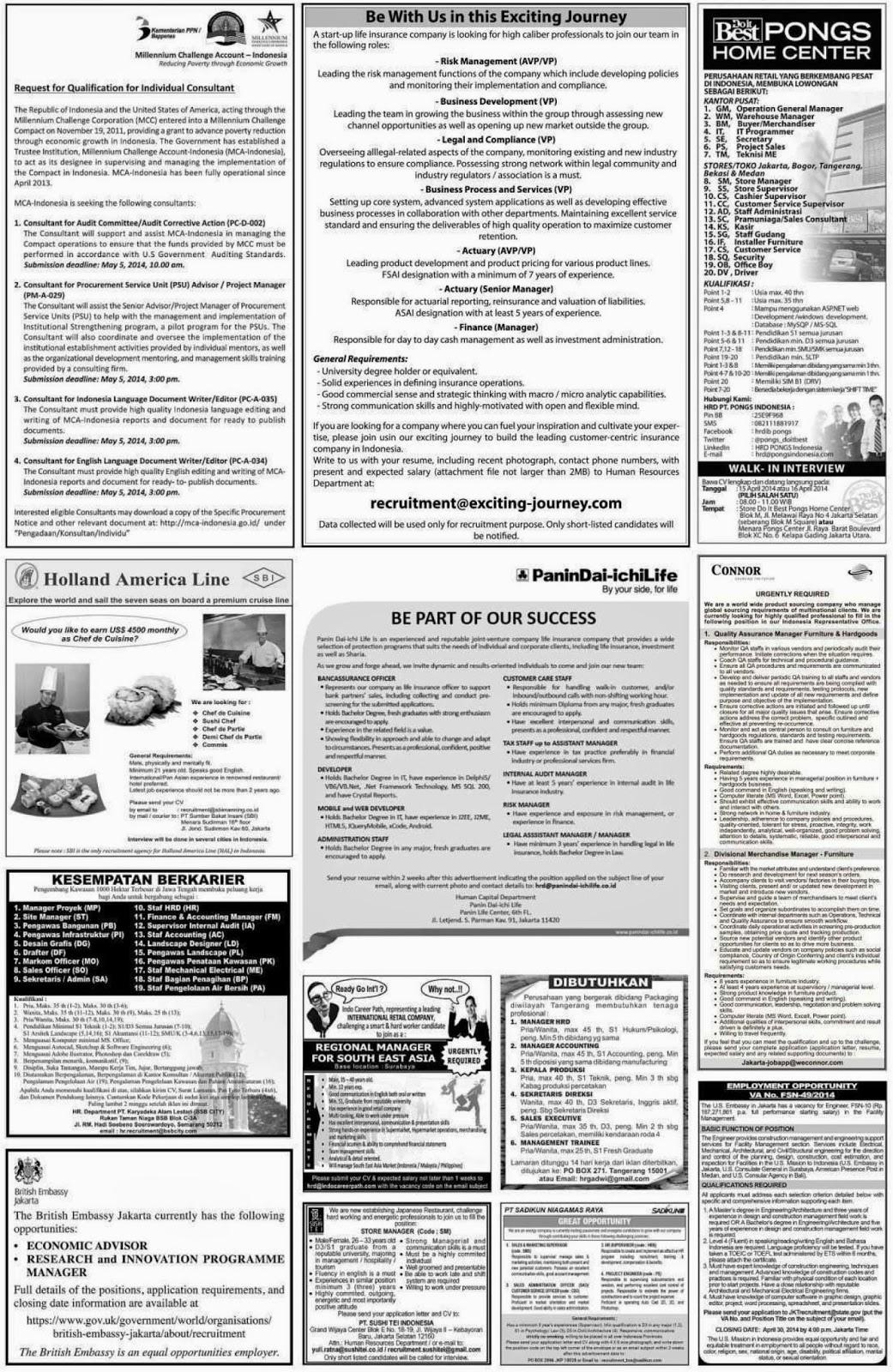 Lowongan Kerja Operator Di Batam Lowongan Kerja Batam Lowongan Kerja Koran Kompas Sabtu 12 April 2014