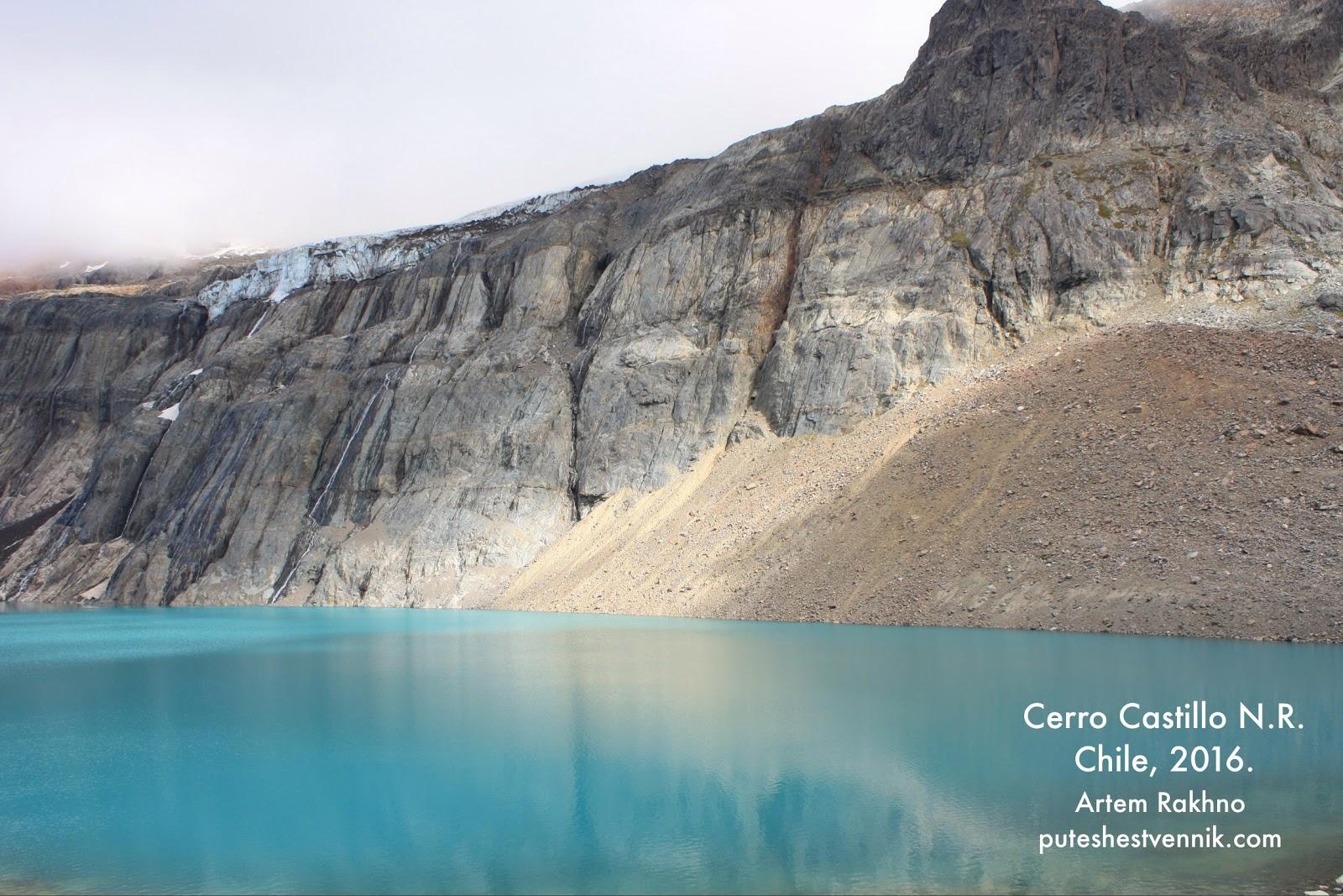 Горное озеро и шапка ледника