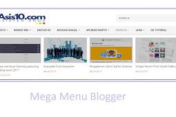 Make a Mega Menu Blogspot