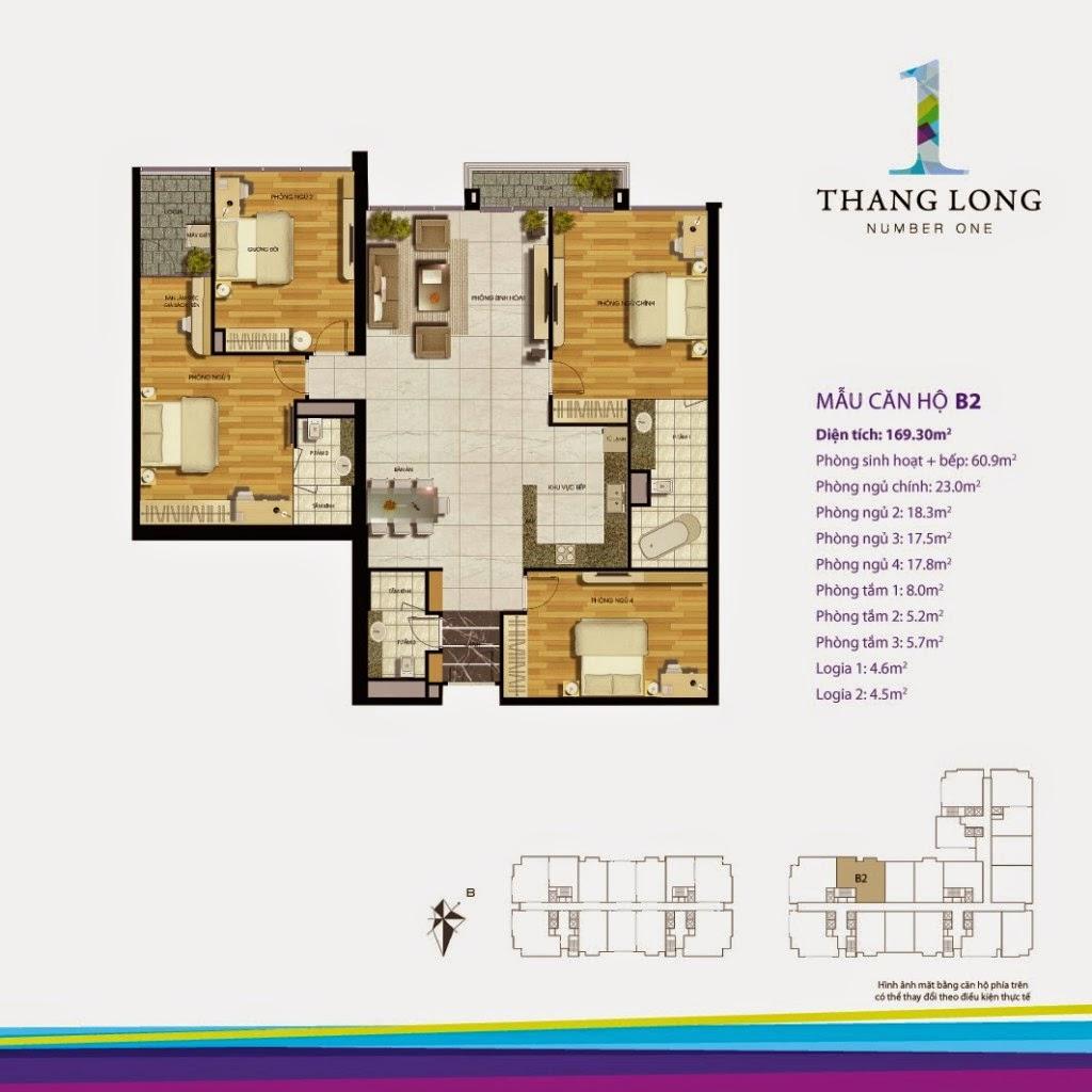 Căn B2- 169,30 m2