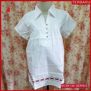 MOM136B18 Baju Atasan Hamil Putih Menyusui Bajuhamil Ibu Hamil