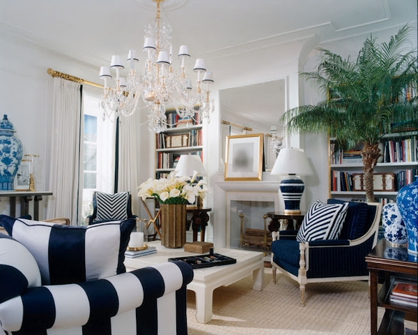 Check Out The Blue And White Striped Lamp In This Ralph Lauren Room S For 1 125