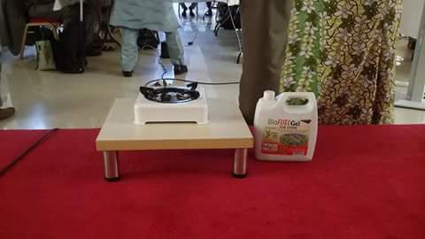 Check out the made-in-Aba stove that uses cassava leaves