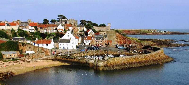 The pretty fishing village of Crail in Fife