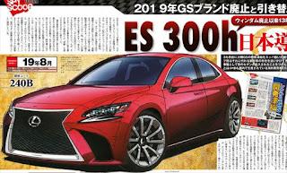 レクサス新型ES ウィンダム後継車として発売