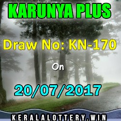 Karunya Plus LOTTERY NO. KN-170th DRAW held on 20/07/2017