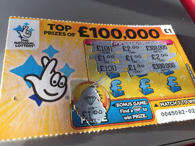 £1 National Lottery Yellow Scratch Card