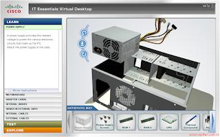 cara merakit komputer secara virtual