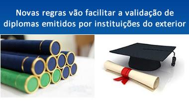 validação de diplomas emitidos por instituições do exterior