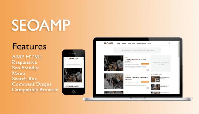 Seoamp AMP HTML Responsive Blogger Template