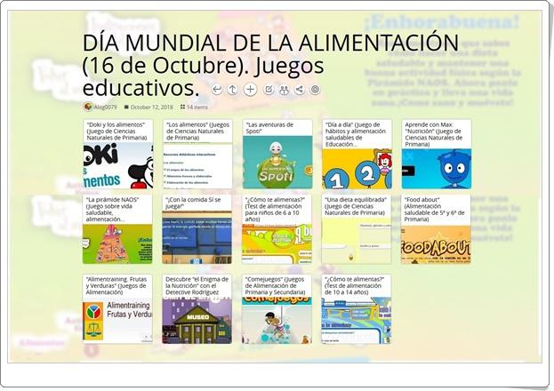 """""""14 Juegos educativos para celebrar el DÍA MUNDIAL DE LA ALIMENTACIÓN"""" (16 de Octubre)"""