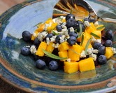 Roasted Beet Salad with Fresh Mango, Blueberries & Blue Cheese (A Veggie Venture)