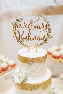 gold laser cut wedding cake toppers