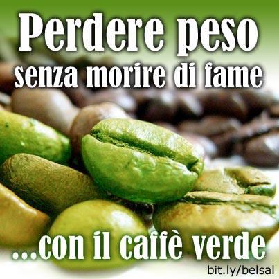 caffè e tè verde per dimagrire
