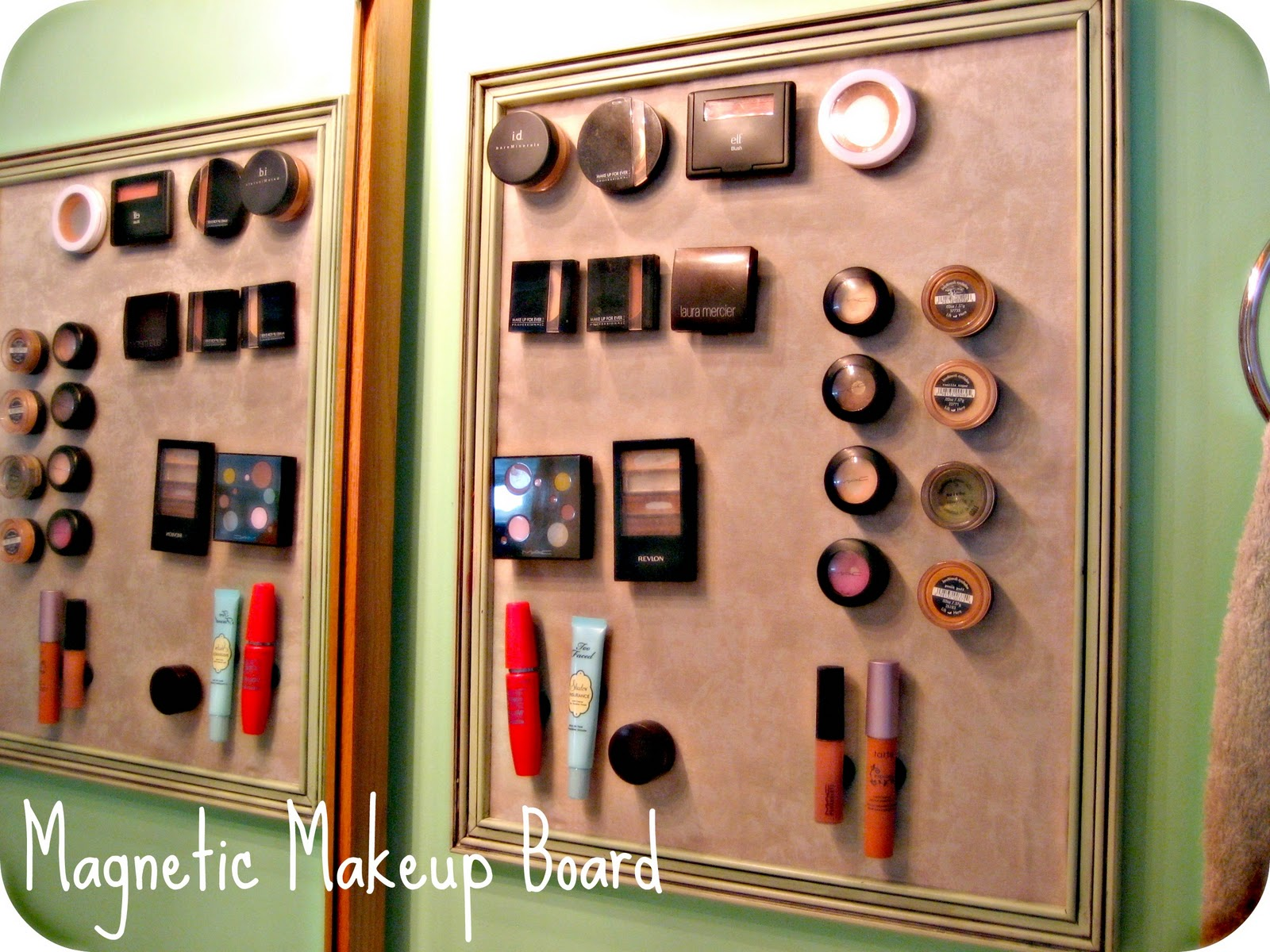 J House Tawk: Magnetic Makeup Board