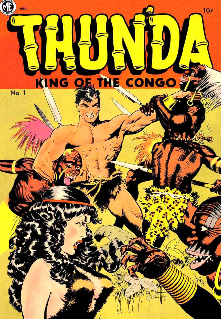 Thunda King of the Congo v1 #1 comic book cover art by Frank Frazetta