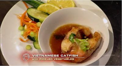 Món cá kho tộ Christine Hà làm tại Vua Đầu Bếp Mỹ