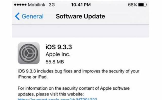 مستخدمو 'آيفون' مصدومون وتحديث 'آي أو اس 9.3.3' يغير هواتفهم شاهدوا ماذا حصل للهواتف...