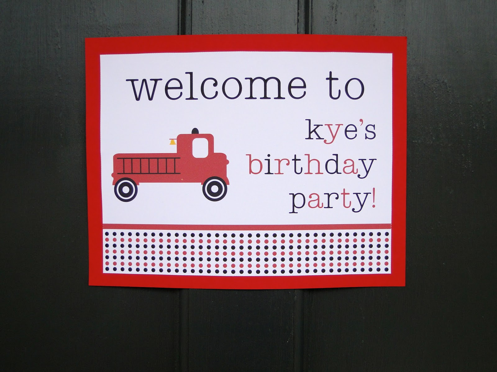 Firetruck Party Decorations!