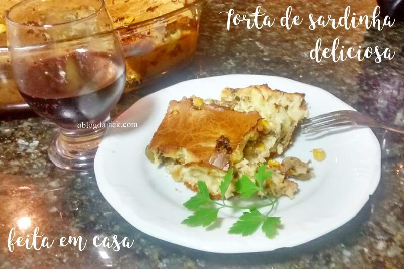 Torta de sardinha deliciosa feita em casa