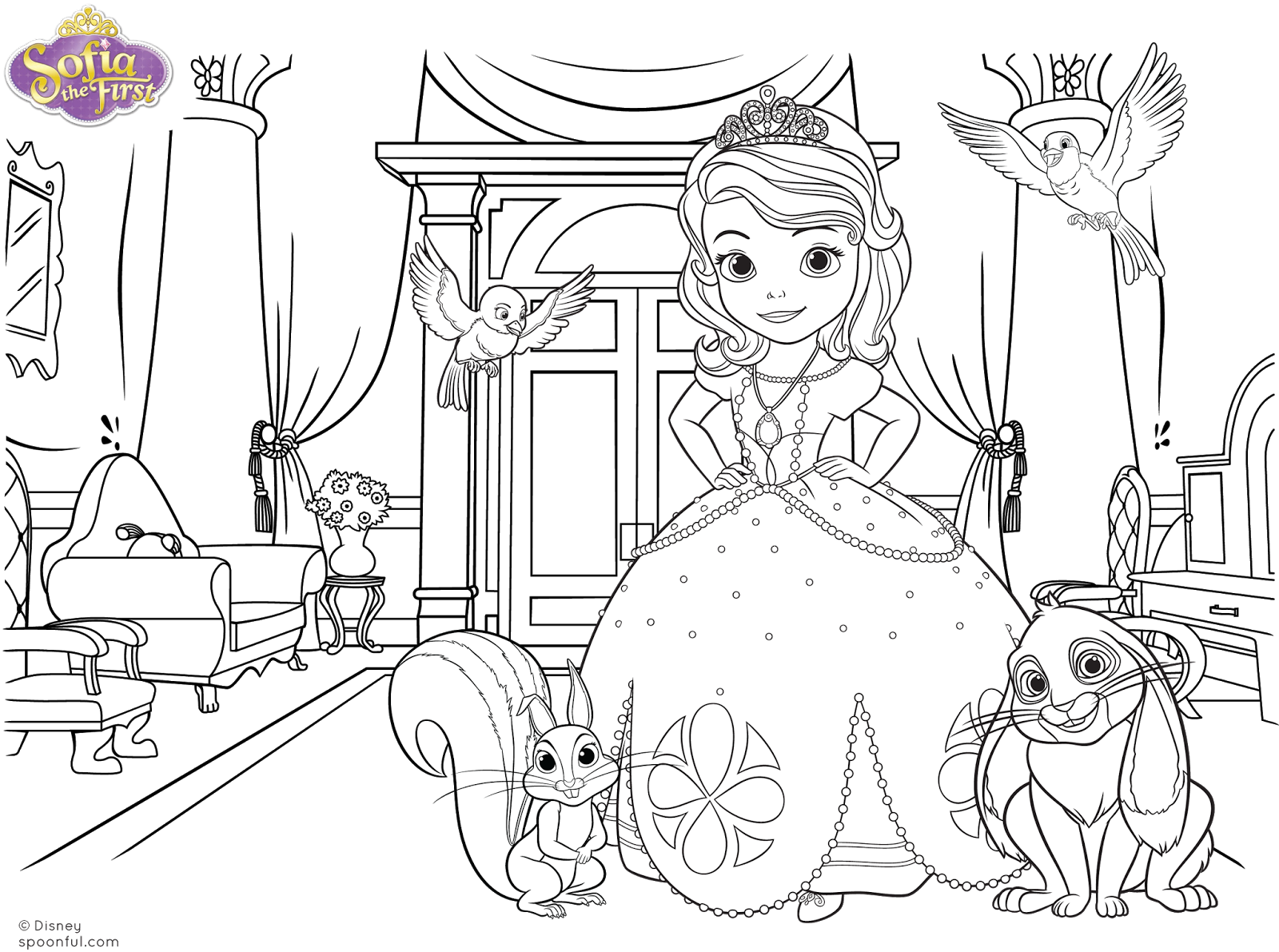 Dibujos Para Colorear De Barbie Princesa Fiesta De Da