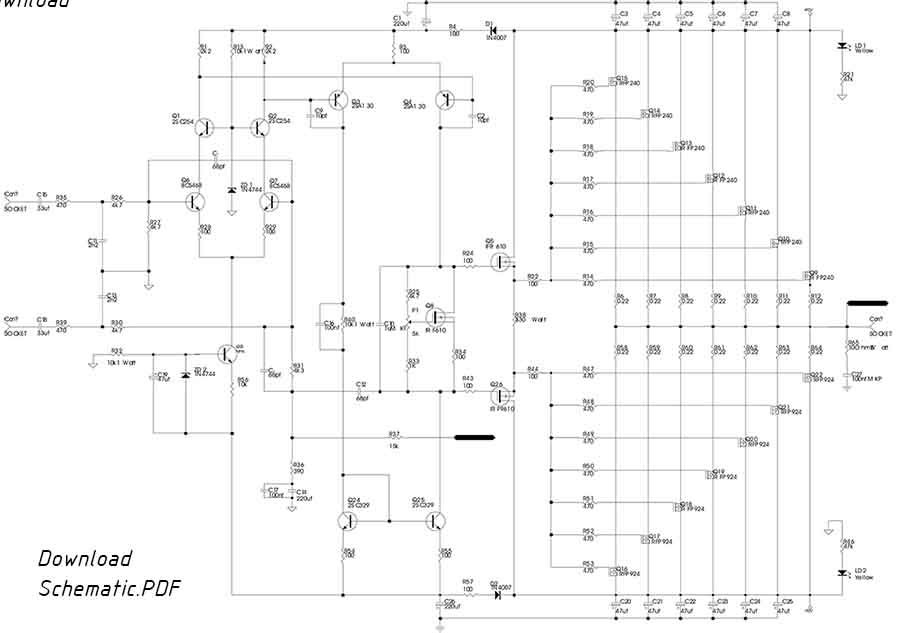 800W Power Amplifier with Mosfet Final Transistor