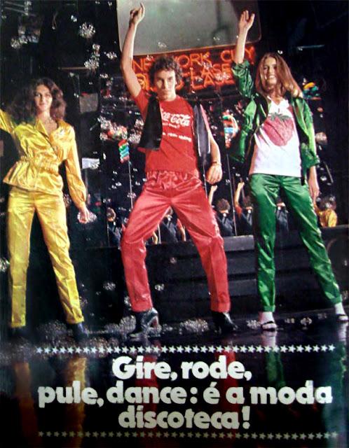 Moda anos 70. História década 70. moda disco década 70.Editorial de Moda Disco - Revista Capricho - 1978