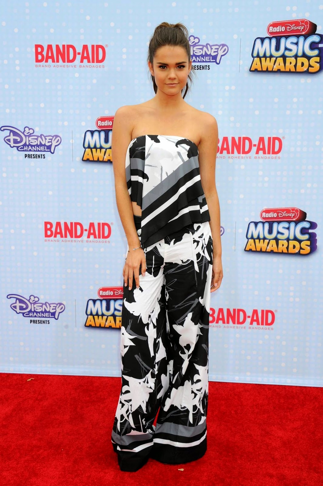 Maia Mitchell is chic in a strapless look at the 2015 Radio Disney Music Awards in LA