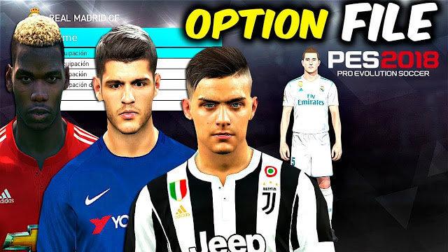 Super Option File PES 2018 PC & PS4