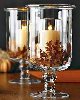 fall wedding decor candles