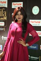 Monal Gajjar in Maroon Gown Stunning Cute Beauty at IIFA Utsavam Awards 2017 072.JPG