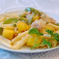 Chicken Pasta With Mango Sauce Recipe