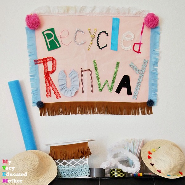 Host a Fashion themed birthday party with a recycled runway activity!