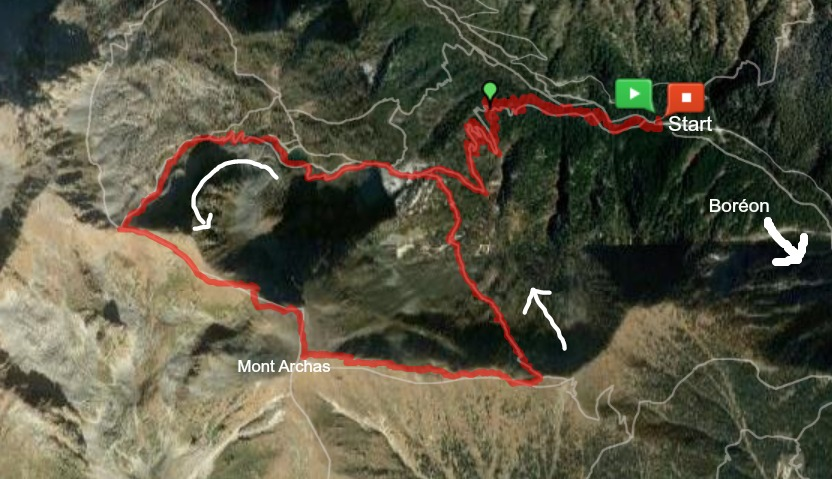 Mont Archas trail