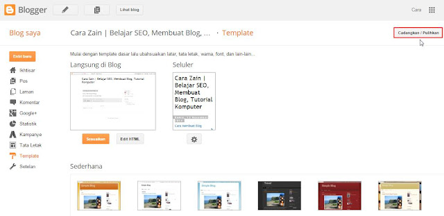 Cara Mengganti Template Blog Mengubah Tampilan Terbaru